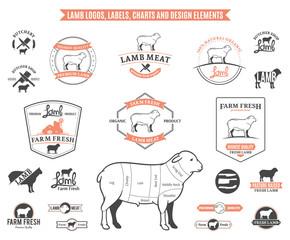 Lamb Logos, Labels, Charts and Design Elements