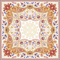 Elaborate scarf design
