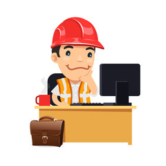Foreman at his Desk