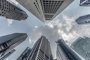 Foto op Canvas Aan het plafond Bankenviertel in Singapur
