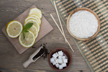 Rice, lemon and spices