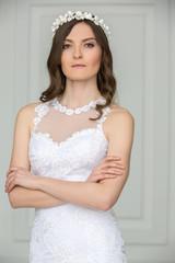 Portrait of elegant bride