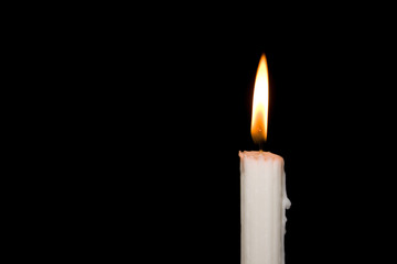 Candlelight in the darkness.