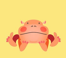 Cute kawaii animalistic cartoon character. EPS 10 vector