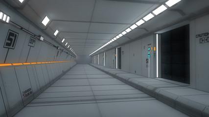 Futuristic SCIFI and futuristic corridor