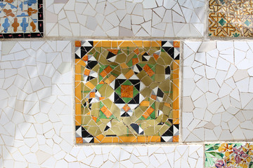 Parque Guell, Park Guell, Barcelona, Spain