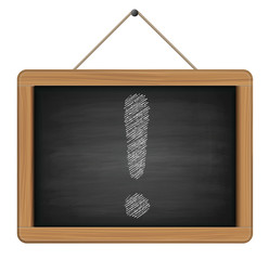 exclamation sign on chalkboard