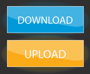Download and upload web buttons