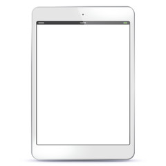 White Tablet PC Vector illustration with blank screen. EPS10.