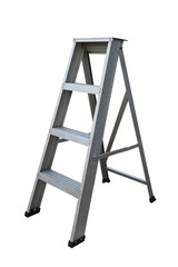 Ladder Isolated on white background, Industry tools on work site, Worker used ladder for work with subject on high position.