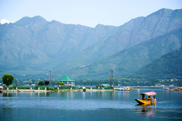 Dal lake at Srinagar, Kashmir, India