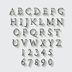 glossy font design set