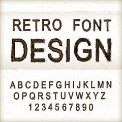 vintage sewing font design set