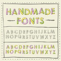 lovely handmade fonts design