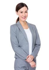 Asian businesswoman portrait on white background