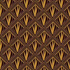 Art deco geometric pattern