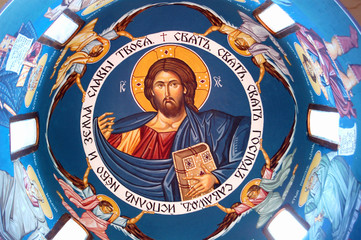 Orthodox fresco of Jesus Christ, Macedonia