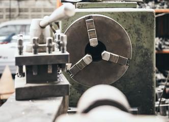 Lathe Tool Industrial machine in garage