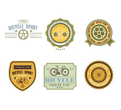 Typographic Bicycle Themed Label Design Set - Bike Shop