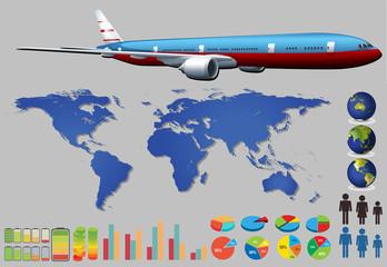 Infographic plane