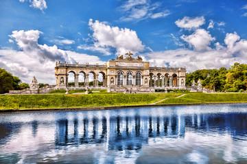 Gloriette with lake in Schonbrunn Palace, Vienna, Austria