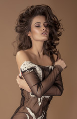 Obraz Young woman with lingerie - fototapety do salonu