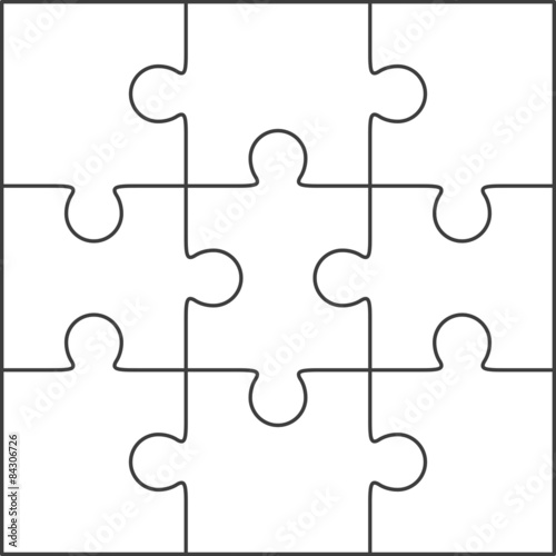 8 Piece Jigsaw Puzzle Template