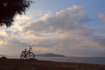 Bicycle at seashore