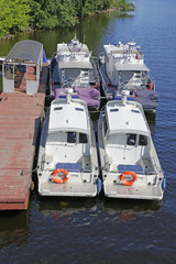 the water police boats at the dock