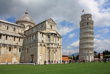 Pisa Cathedral with the Leaning Tower