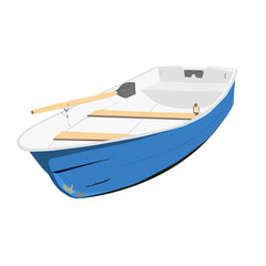 Rowing boat vector illustration