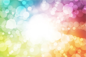 abstract background colorful bokeh circles