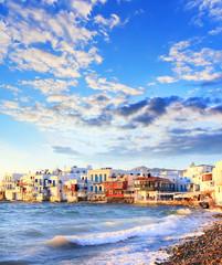 Colorful Little Venice on Mykonos island, Greece