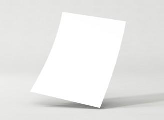 Briefpapier gebogen Vorlage A4