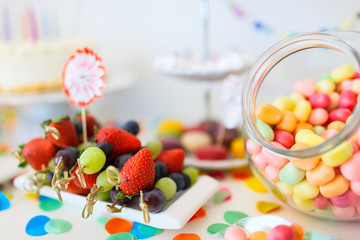 Dessert table at party