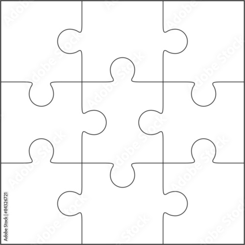 Jigsaw Puzzle Blank Template 3x3 Stock Image And Royalty Free Vector Files On Fotolia