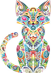 Motley cat, light
