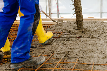 Rohbau betonieren - Decke