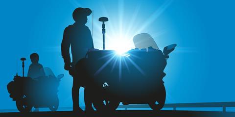 Gendarmes motard - Policiers - sécurité routière