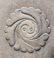 Ying yang symbol of balance