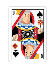 Vector Queen game card illustration