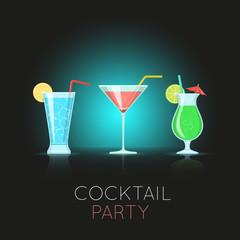 Cocktail glasses.
