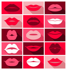 Vector design of lips icons