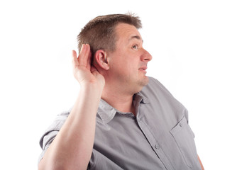 Man trying to hear you