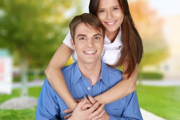 Couple, Cheerful, Happiness.