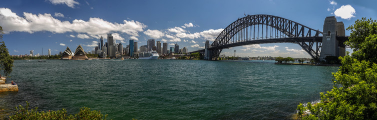 Blick von Kirribilli auf die Downtown von Sydney