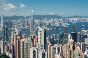 View of Hong Kong during sunny day