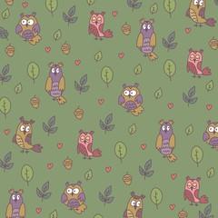 owl background vector design