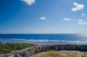 沖縄県 波照間島 底名溜池展望台からの景色