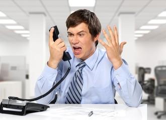 Emotional Stress, Frustration, Telephone.